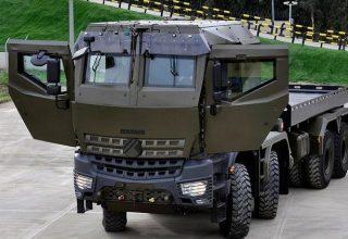 Askeri lojistik destek aracı 'Derman' zorlu test süreçlerini başarıyla geçti