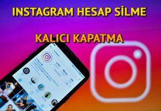 İNSTAGRAM HESAP SİLME LİNKİ 2021 – Kalıcı Instagram kapatma (İnsta hesabı nasıl kapatılır ve silinir)